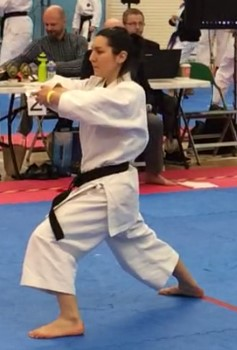Alexandra Merisoiu Bracknell Legend Karate Competition 2018