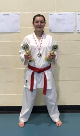 Alexandra Merisoiu Middlesex Karate Open Champs 27.5.18
