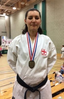 Gold Kata Ind Alexandra Meris TSKUK Shotokan Karate